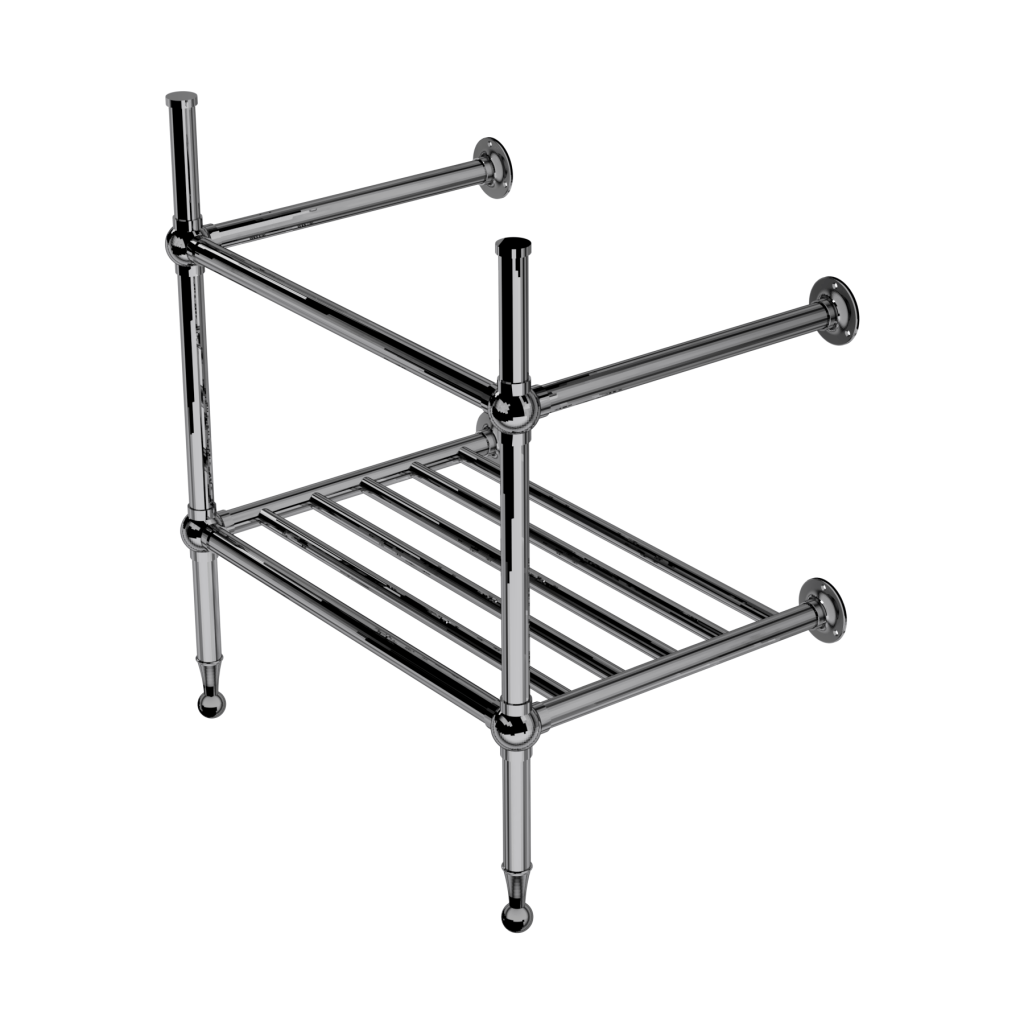 Classic Two Leg Basin Stand With Rack