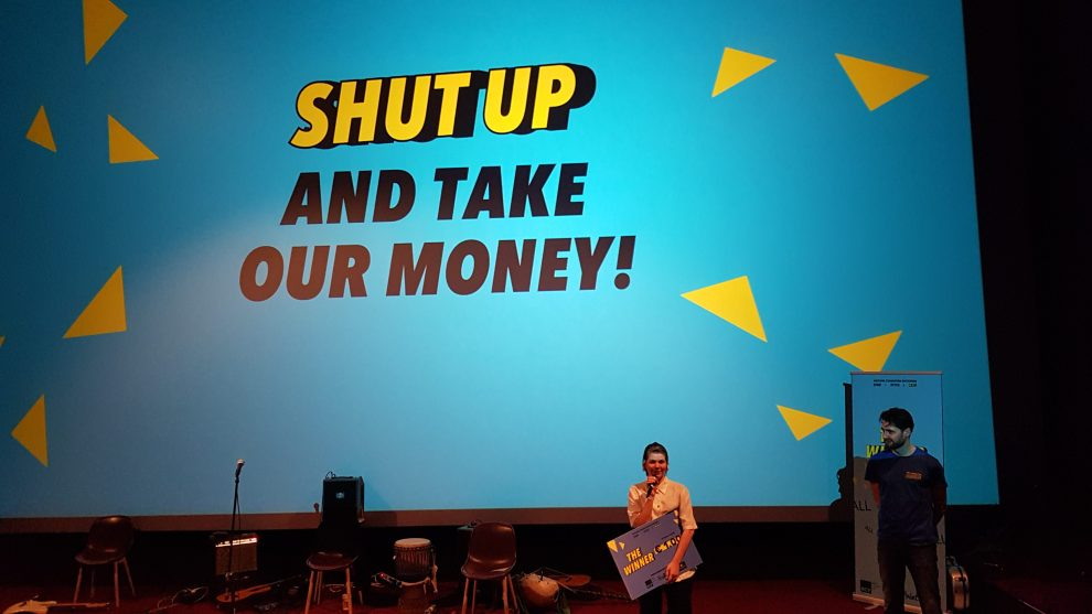 SlutWalk Rotterdam, organized by KONTRA and their partners, won 1000 euros for their pitch