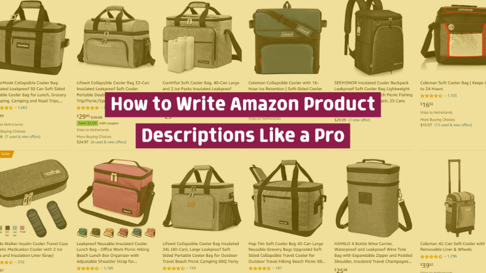 Want your products to show up in Amazon search results? Make sure you have a great product description!
