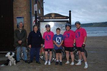 Scarborough - end of the coast to coast bike ride