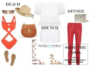 What to Wear Saturday from 9 to 9 | Beach Brunch Dinner