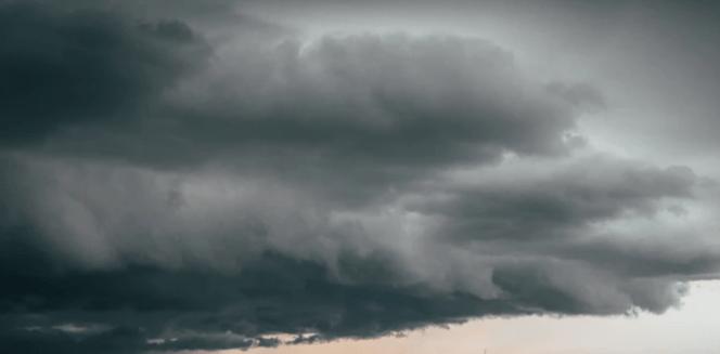 Cloudy Sky And Sleeping Girl