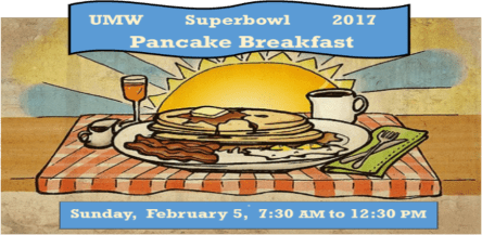 UMW Superbowl 2017 Pancake Breakfast