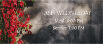 Ash Wednesday Meal & Service