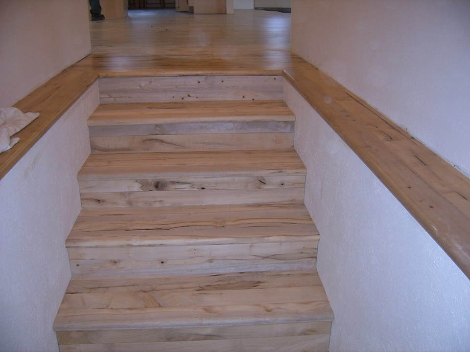 Oregon Wood Stair Treads And Risers Installed – Sterlingwoodfloors Com | Hardwood Stair Treads And Risers | Stained | Maple | Hickory | Red Oak | New