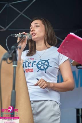 Wystąpienie podczas manifestacji Stop Deprawacji w Edukacji