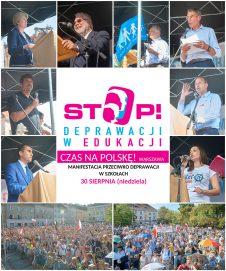 Manifestacja Stop Deprawacji w Edukacji
