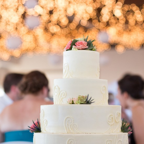 awesome wedding cake, beach themed wedding, bayfield, wi