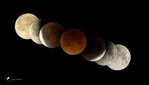 Collage der Mondfinsternis am 28.09.2015