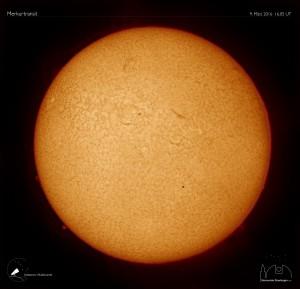 Der Merkur vor der Sonne am 9.5.2016