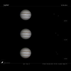 Der Jupiter mit Monden am 22.5.2016