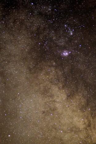 Die Milchstraße mit Lagunennebel M8 und Trifidnebel M 20