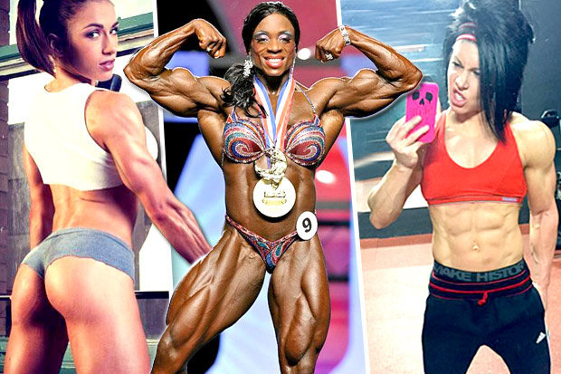 women bodybuilding before and after