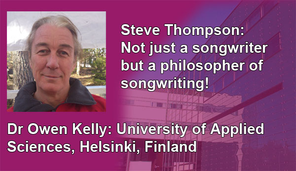 Picture of Dr Owen Kelly of The University of Applied Sciences, Helsinki, Finland. Endorsement for Steve Thompson.