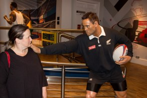 If Jonah Lomu (NZ All Blacks) thinks he can push Jane away, he doesn't know her!