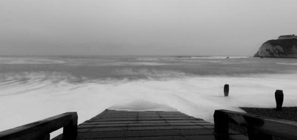 Rising tide at Freshwater Bay