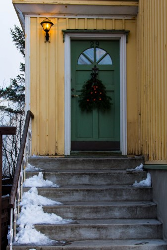 This is what a Christmas door looks like in Reykjavik