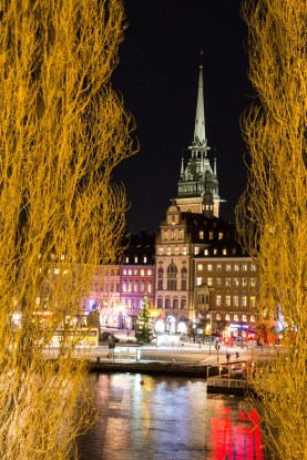 Tyska kyrkan (German Church) is a 14th century church overlooking and dominating the skyline of Old Town Stockholm