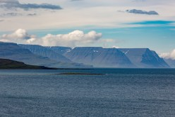 View of the Tuya mountains along the Westfjords