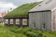 A traditional Icelandic home on Flatey Island