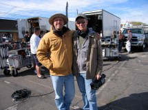 On set of The Canyon in Williams, Arizona. with director Richard Harrah
