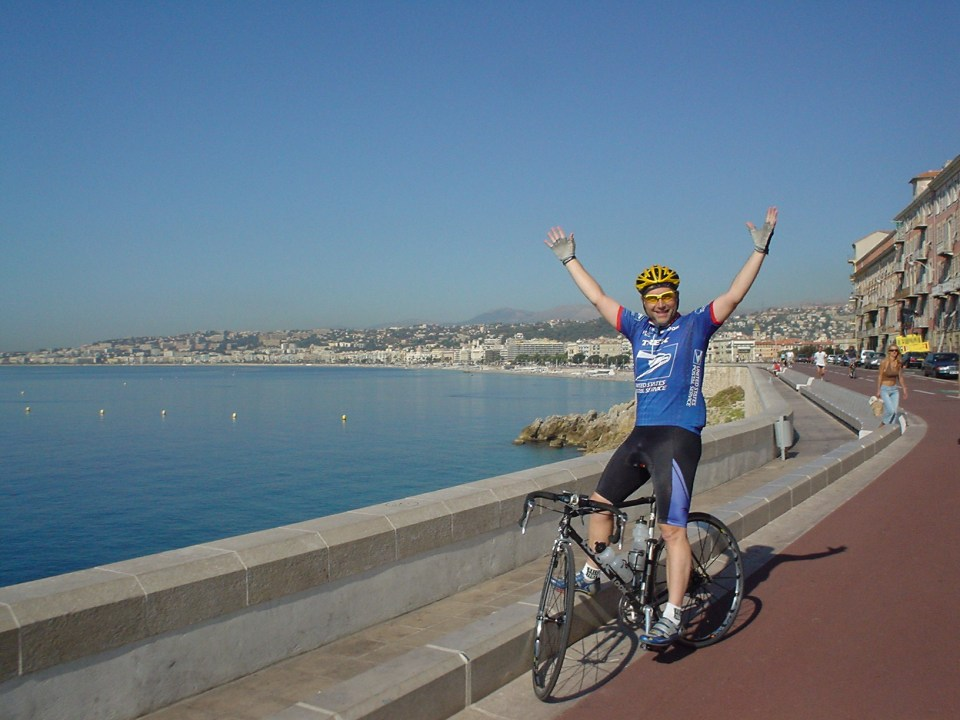 Steve And Carole In Vence - Cycling In Nice in 2003