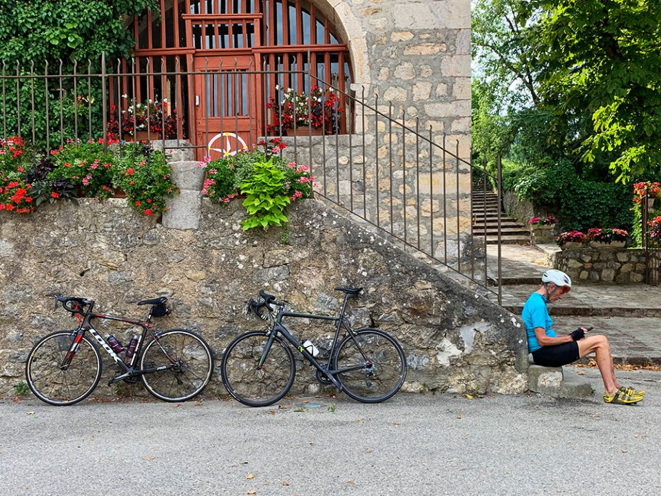 Steve and Carole in Vence - 73 Villages by Bike - La Croix-sur-Roudoule, Puget-Rostang & Auvare