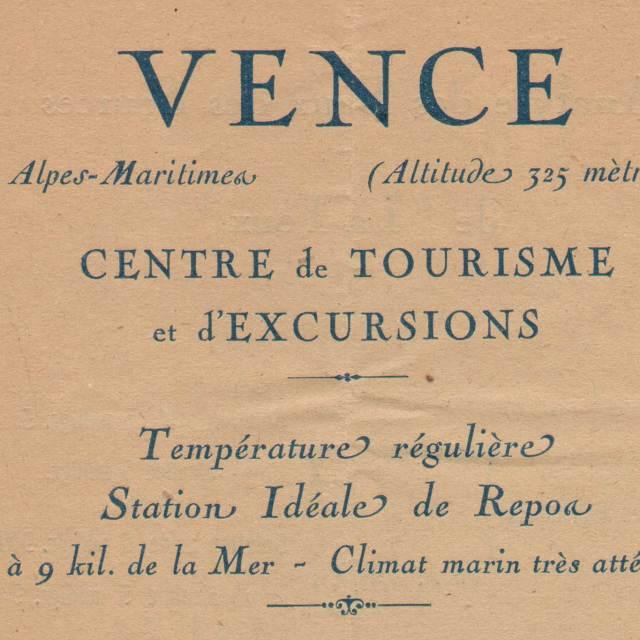 Steve and Carole in Vence - 1925 Notice Sur Les Eaux de Vence
