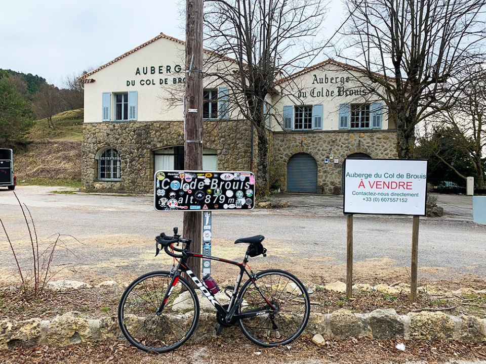 Steve & Carole in Vence - At the top of the Col de Brouis between Sospel and Breil-sur-Roya-sur-Roya.