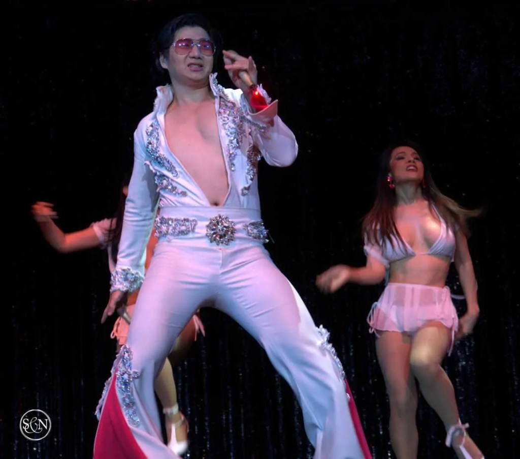 Elvis impersonator at the Calypso