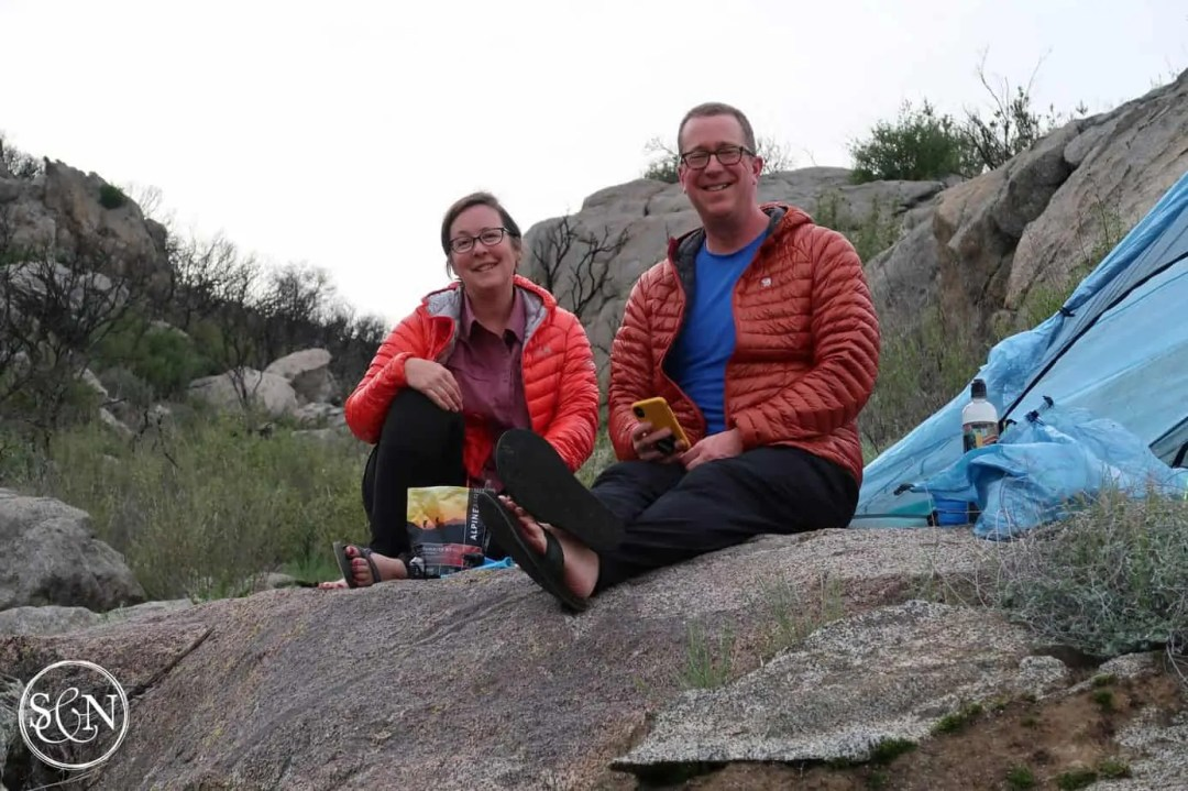 Our first night on the PCT