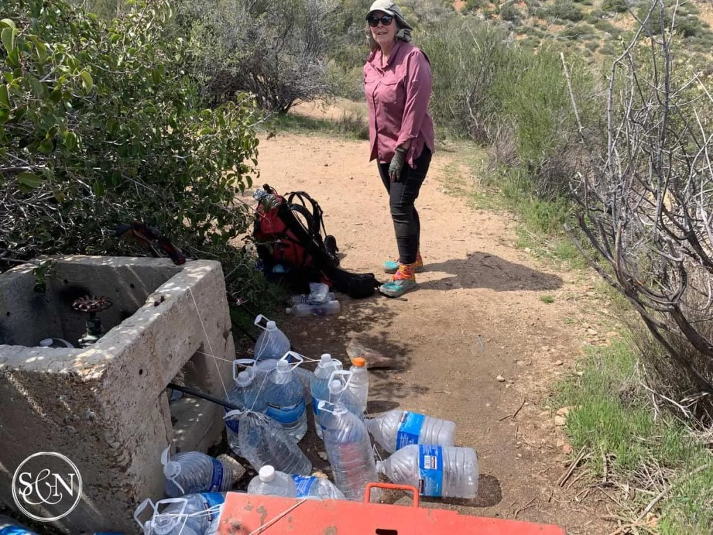 Noelle at a Water Cache