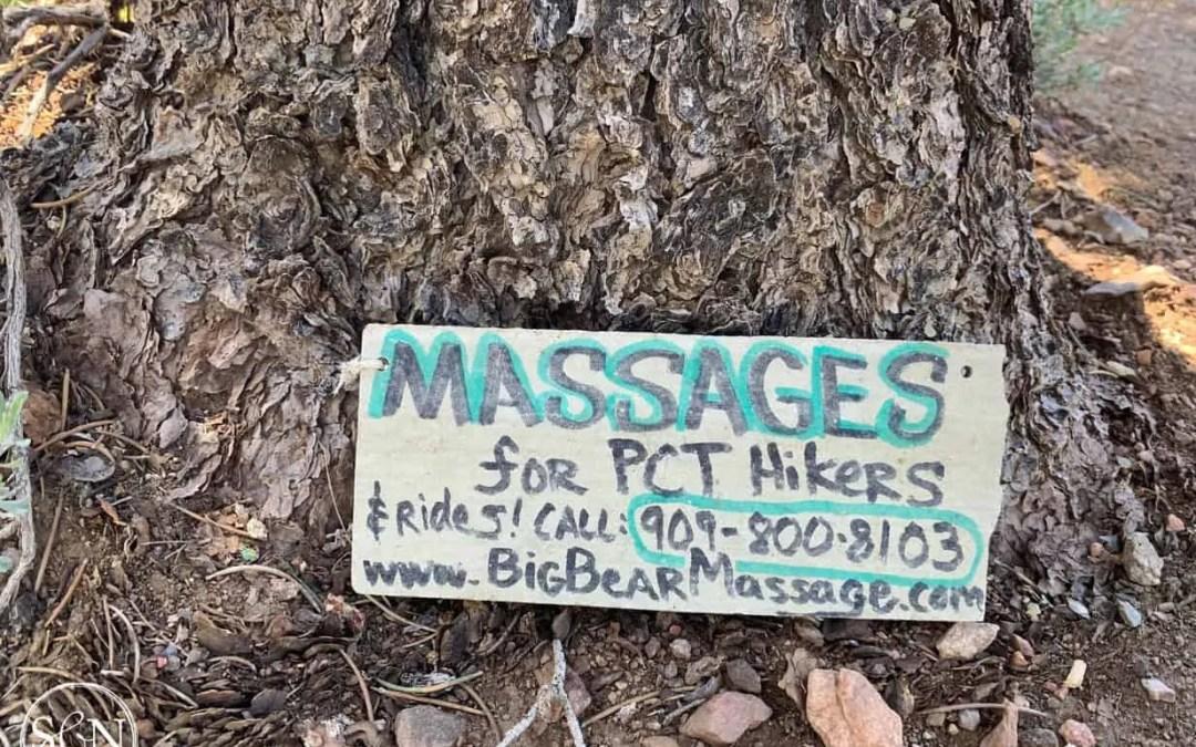 Hiker massage sign