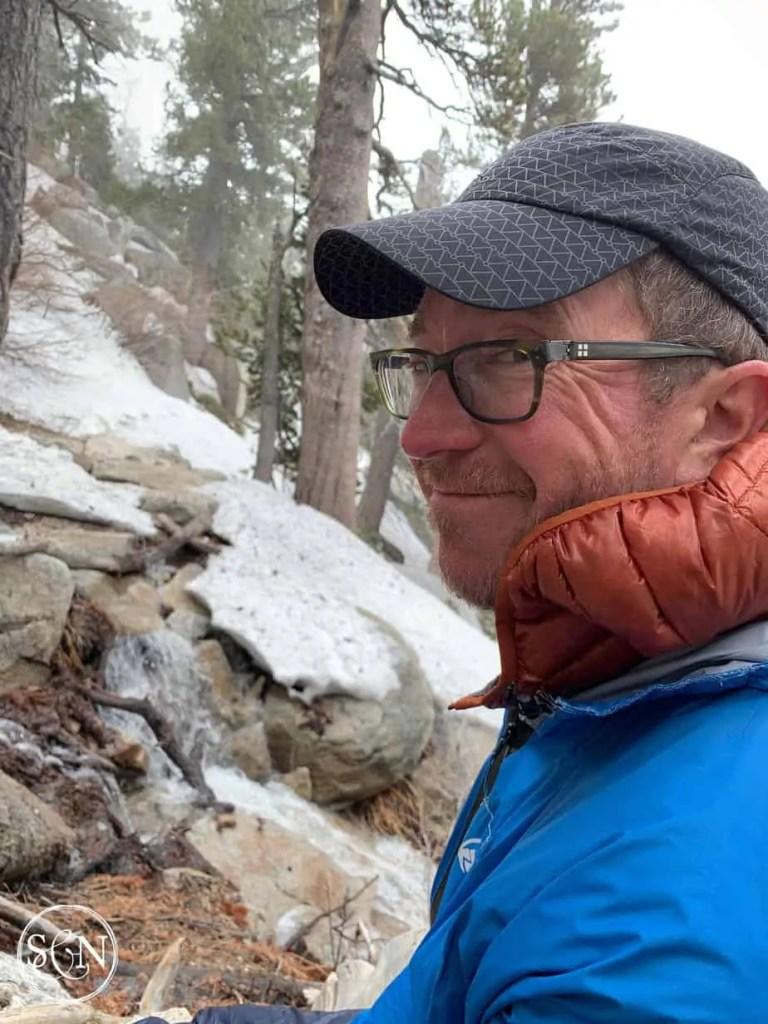 Steve enjoying the snow