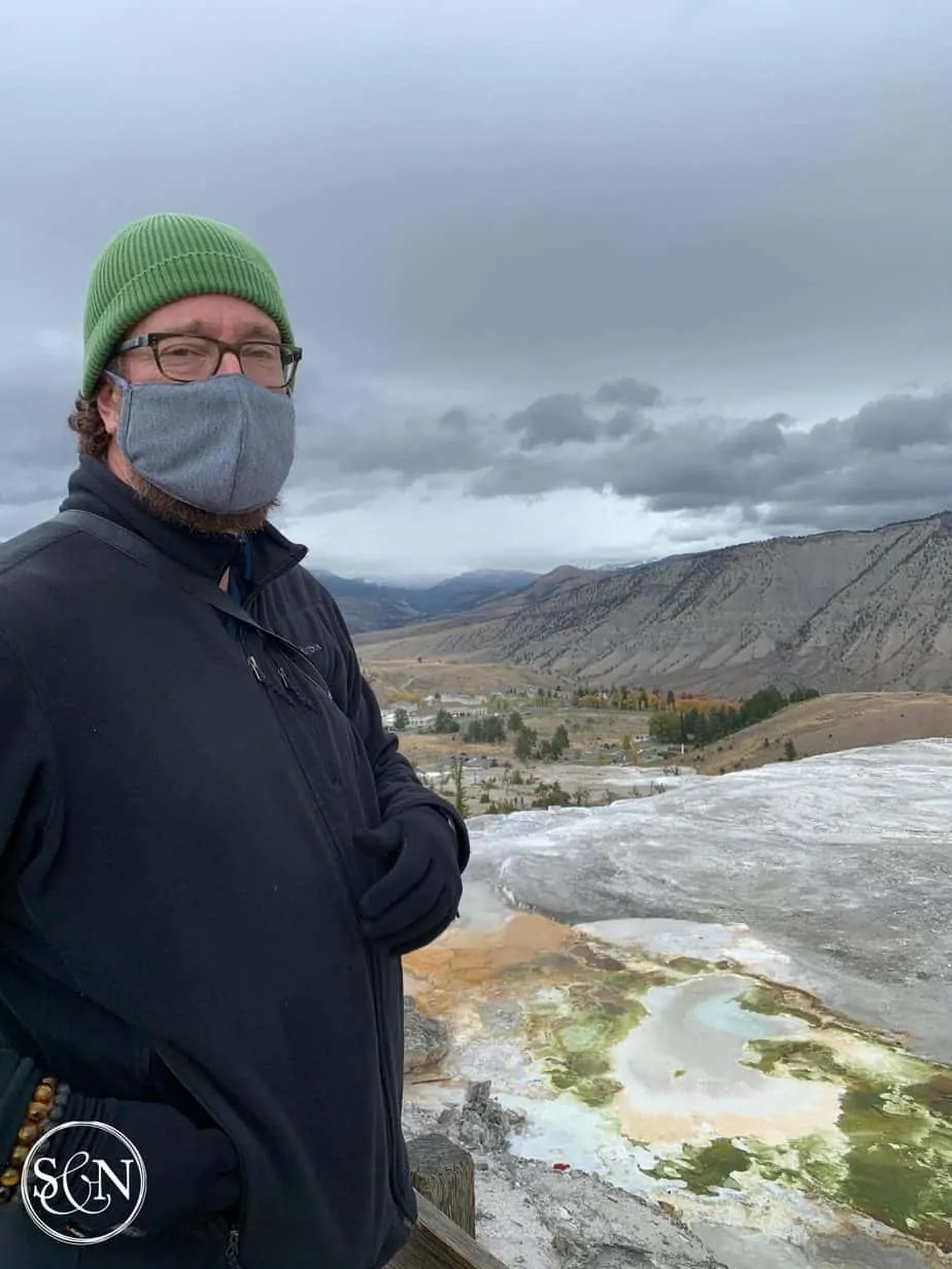 Steve at Mammoth Hot Springs