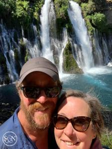Loving the cool water of Burney Falls