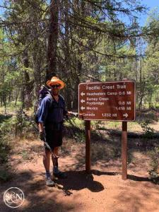 Steve and the PCT sign
