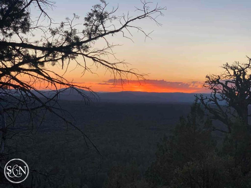Sunset on the Pacific Crest Trail