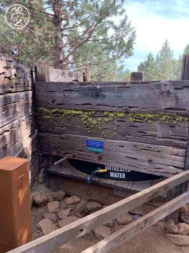 water tank on the PCT