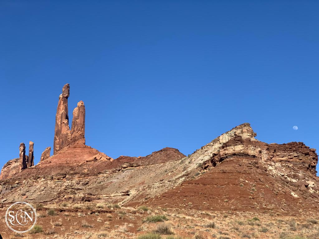 Canyonlands National Park, Zeus and Moses rock towers