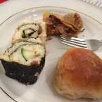 N-sectsy-sushi, bug-itos and cricket flour rolls  (From Naomi)