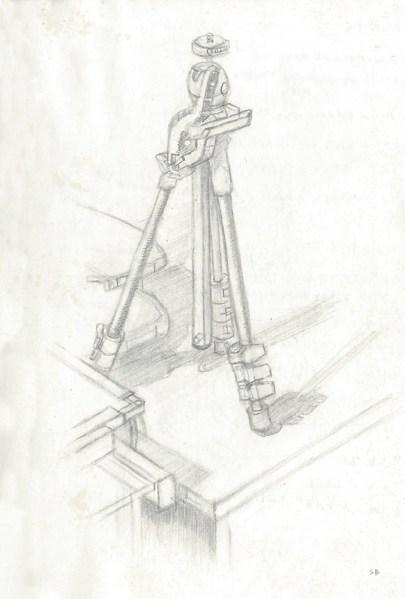 tripod-drawing-pencil-moleskine-steve-beadle-art
