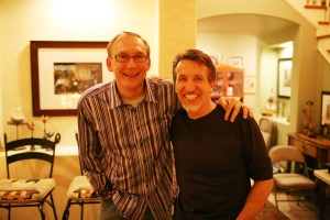 Greg and I after recent house concert at his place in southern CA