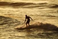 Surfer in Bigfoot Pose