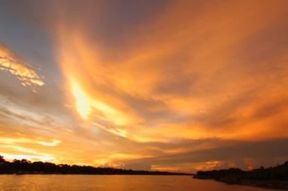 Sunset on the Zambezi River