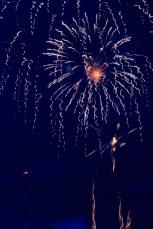 Fireworks with camera shake