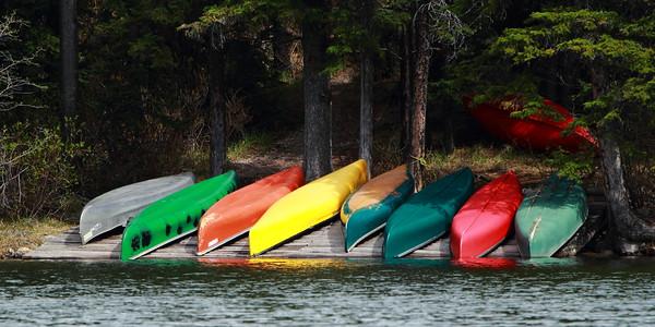 Canoes on Pyramid Lake