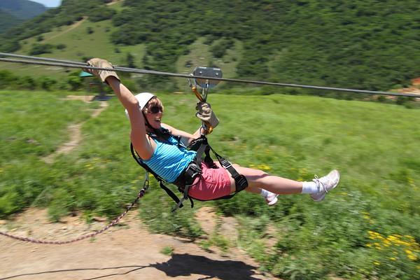 Zip line in Oribi Gorge