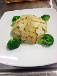 Kimchi and Mushroom Potato Bake
