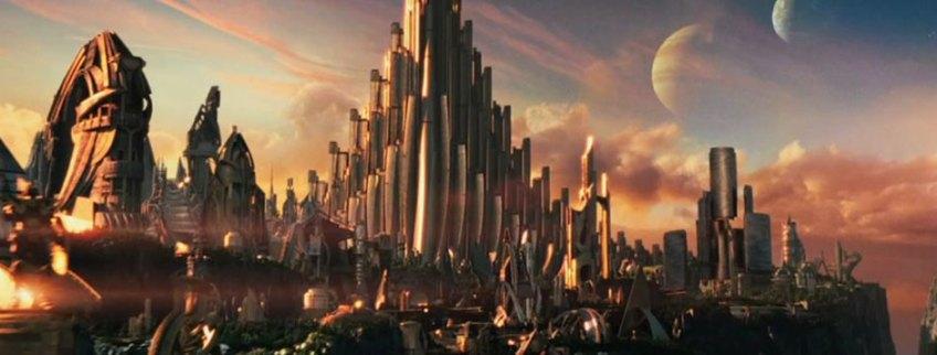 Asgard in the movie Thor